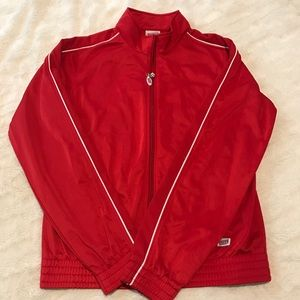 Soffe red track jacket M